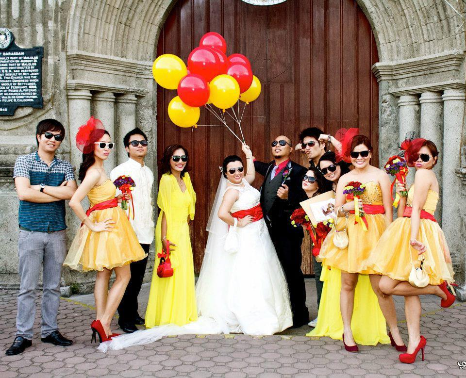 A COOL, BRIGHT RED-YELLOW WEDDING | Malolos Bulacan Bride Weddings ...